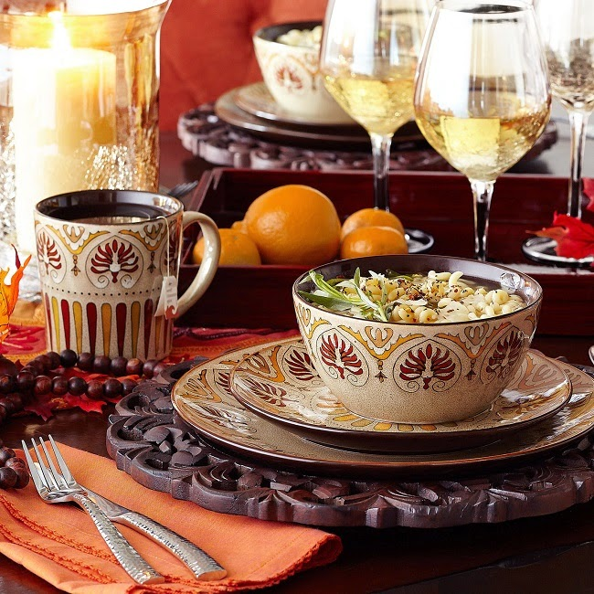 Thanksgiving entertaining ideas + fall entertaining ideas + Pier 1 Myra dinnerware