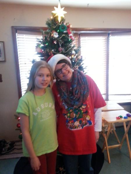 Cass and me xmas  2013
