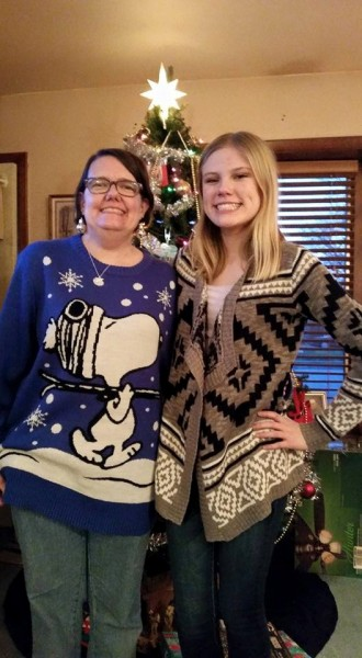 Cassie and me Christmas 2015