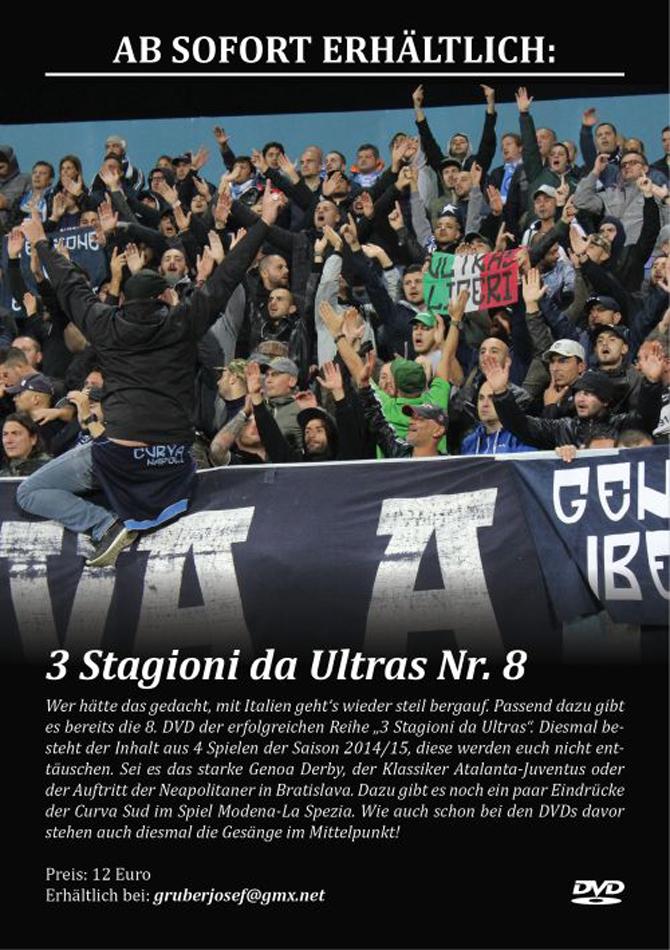 DVD 3 STAGIONI DA ULTRAS Nr. 8