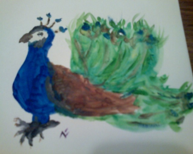 and we painted a peacock...
