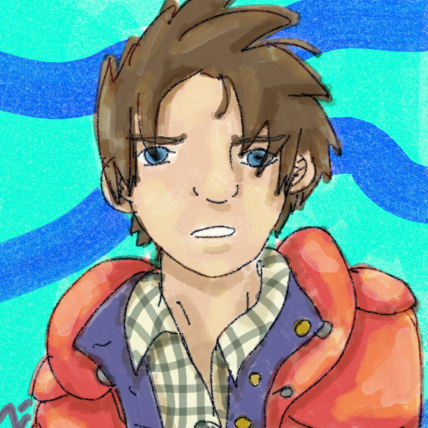 McFly with the orangeish-red vest before I colourised layered it red.