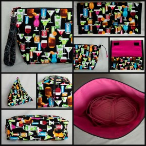 Wine bags collage