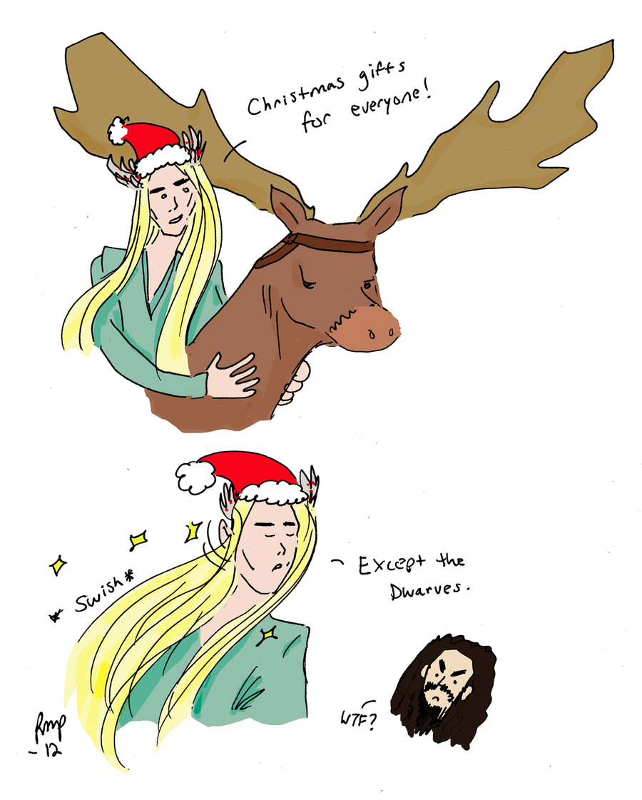 the_hobbit__christmas_with_thranduil_by_romaniablack-d5of9mr