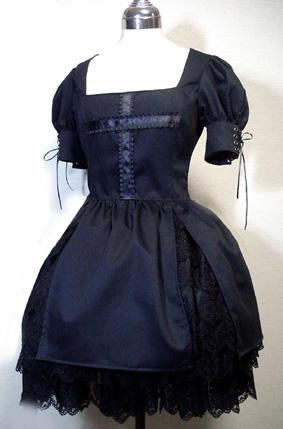 Antique Beast Dress with Cross Applique