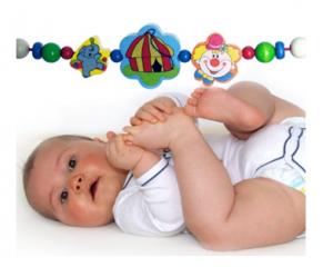 Растяжка на коляску с клипсами «Цирк» Hess-Spielzeug