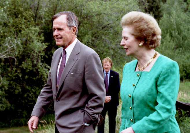 Margaret_Thatcher_with_George_Bush_at_Aspen_press_conference