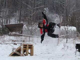 danny snowboarding