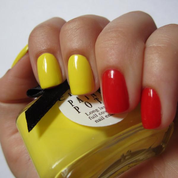 Маникюр 2017 красный с желтым
