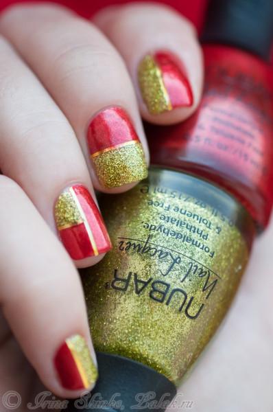 Nubar Rosso и Nubar Lime Green Glitter