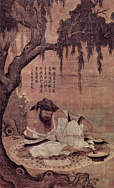 Chinese_master_of_the_XI_century_The_Honorable_Scientist_under_the_Willow_art_gallerys_prints_arts_b