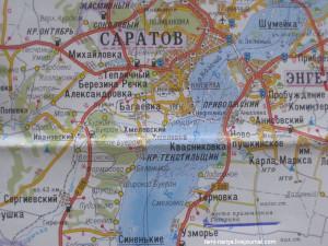 Карта. Место приземления Первого космонавта -  Ю.А. Гагарина 12 апреля 1961года. 239