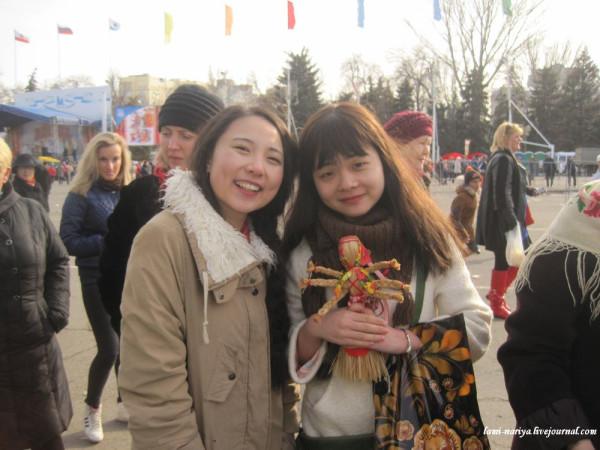 Гости из Китая на Масленице. 2016 045