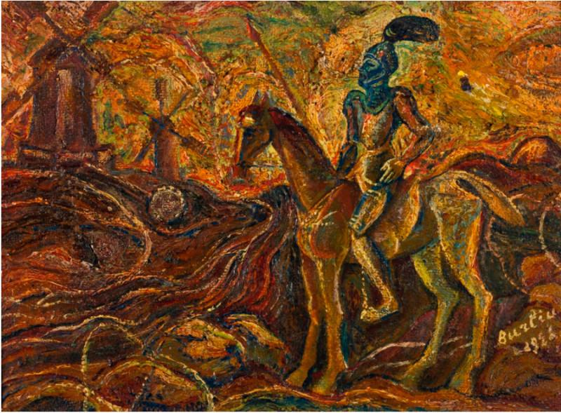 Давид Бурлюк. Дон Кихот, 1926