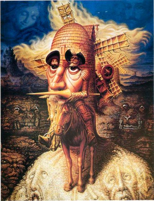 Октавио Окампо. Видения Дон Кихота, 1989