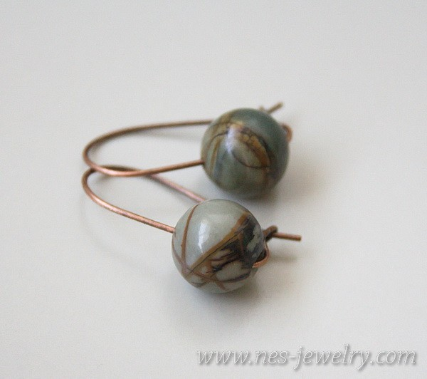 Earrings jasper picasso 2