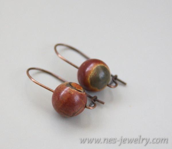 Earrings jasper picasso 6