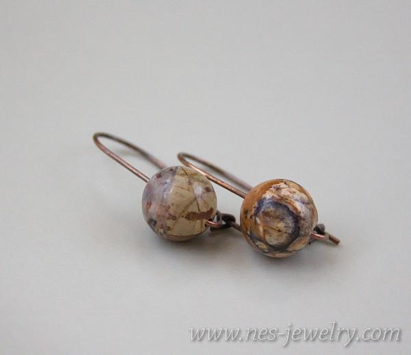 Earrings jasper picasso 8