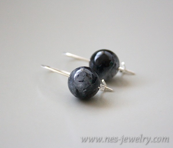 Earrings Black Rutilated Quartz 1