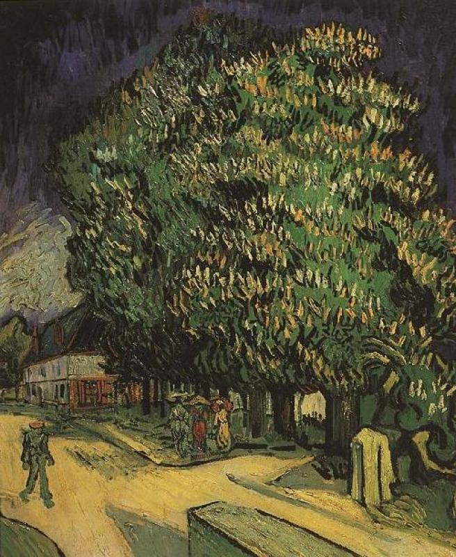 Винсент-Виллем-Ван-Гог--Цветущие-каштаны