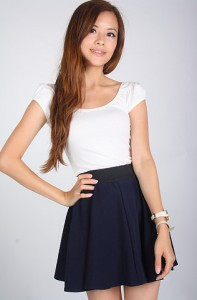 Basic Puff Sleeve Top in White
