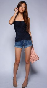 Lantern Top in Navy1