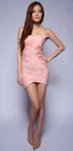 Lantern Premium Pleated Tube Dress0