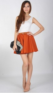 Lollipop Skirt in Burnt Orange1