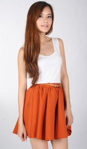 Lollipop Skirt in Burnt Orange2