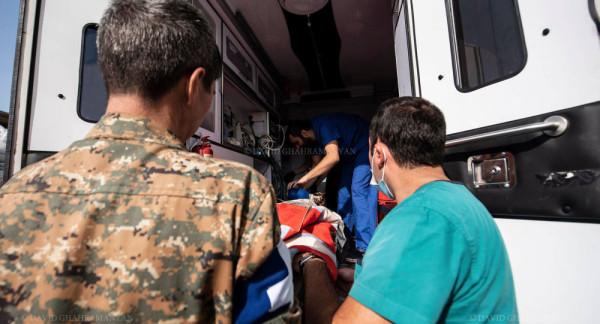 Шуши после обстрела раненые