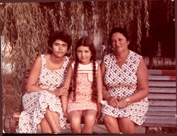 Девочка с косичками, август, 1982
