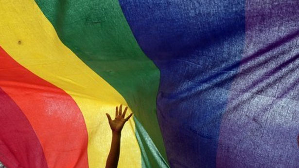 An-Indian-sexual-minority-community-member-gestures-over-a-rainbow-flag-in-a-Pride-Walk-in-Kolkata-AFP