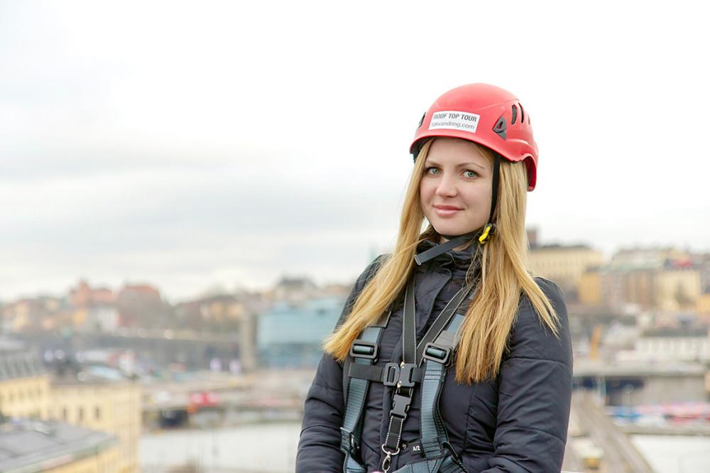Самая красивая блондинка Стокгольма - из России