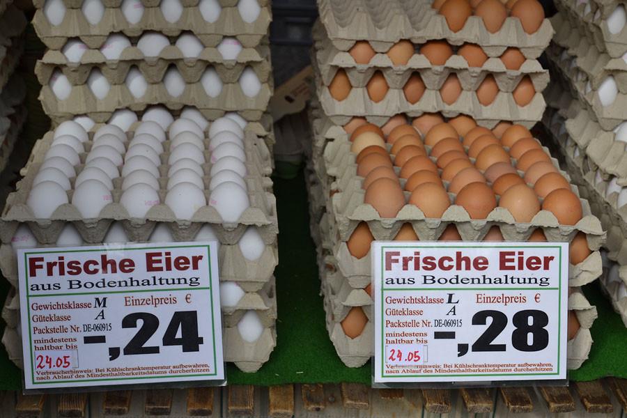 Почем яйца в Германии?