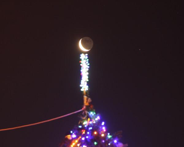 21.01.2020-Луна и планета Марс в небе над пос. Южно-Морской (Приморского края)