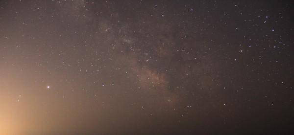 Планеты: Марс, Сатурн и Юпитер (и Млечный Путь) утром 02.04.2020, в небе над пос. Южно-Морской Приморского края.