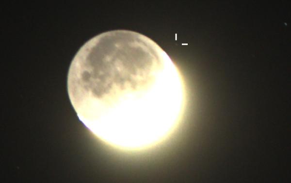 Тесное соединение Луны и астероида Веста - 26.04.2020