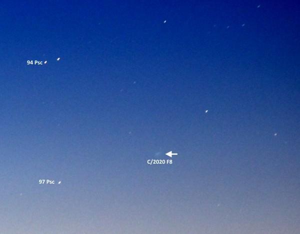 Комета C/2020 F8 (SWAN) утром 13.05.2020.