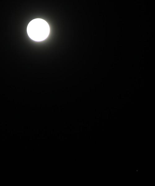 Соединение Луны и Альдебарана во время полутеневого лунного затмения 30.11.2020.