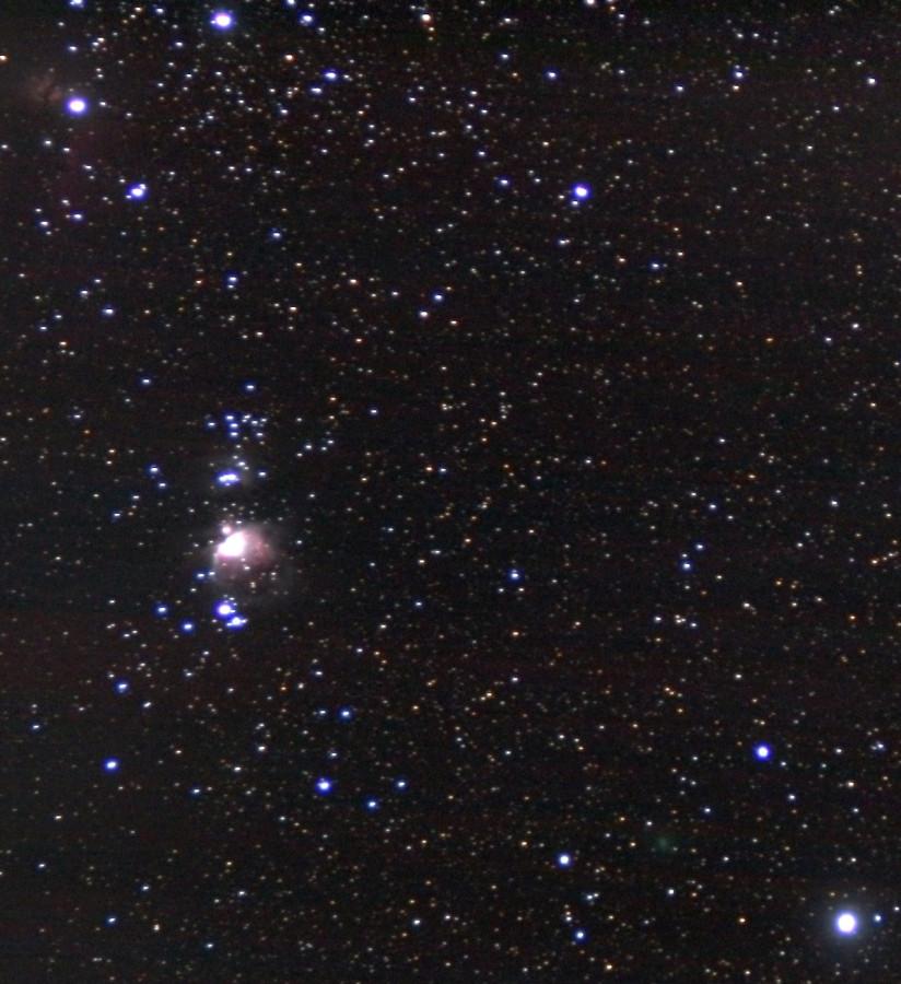 Комета C/2020 M3 (ATLAS) и Большая туманность Ориона - ночью 5 ноября 2020 года.
