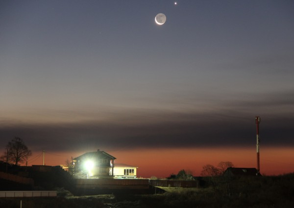 Соединение Луны и Венеры - утром 13 декабря 2020 года