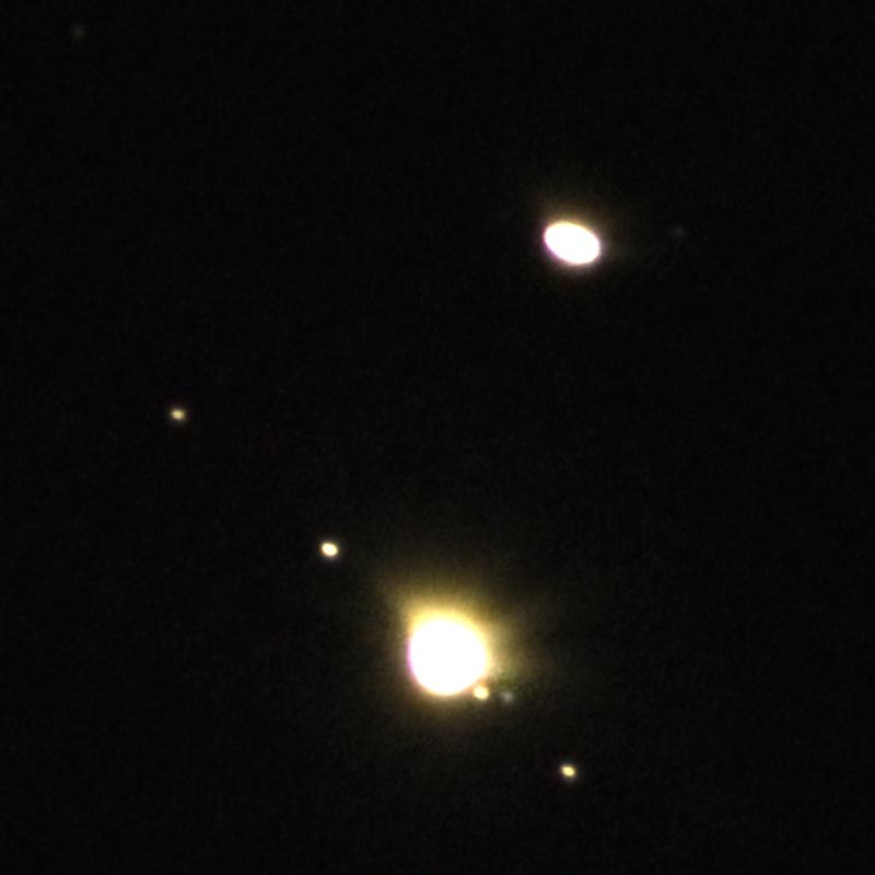 Великое соединение Юпитера и Сатурна - вечером 21.12.2020.