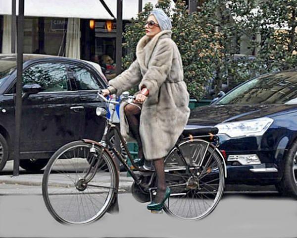 шуба на велосипеде 1