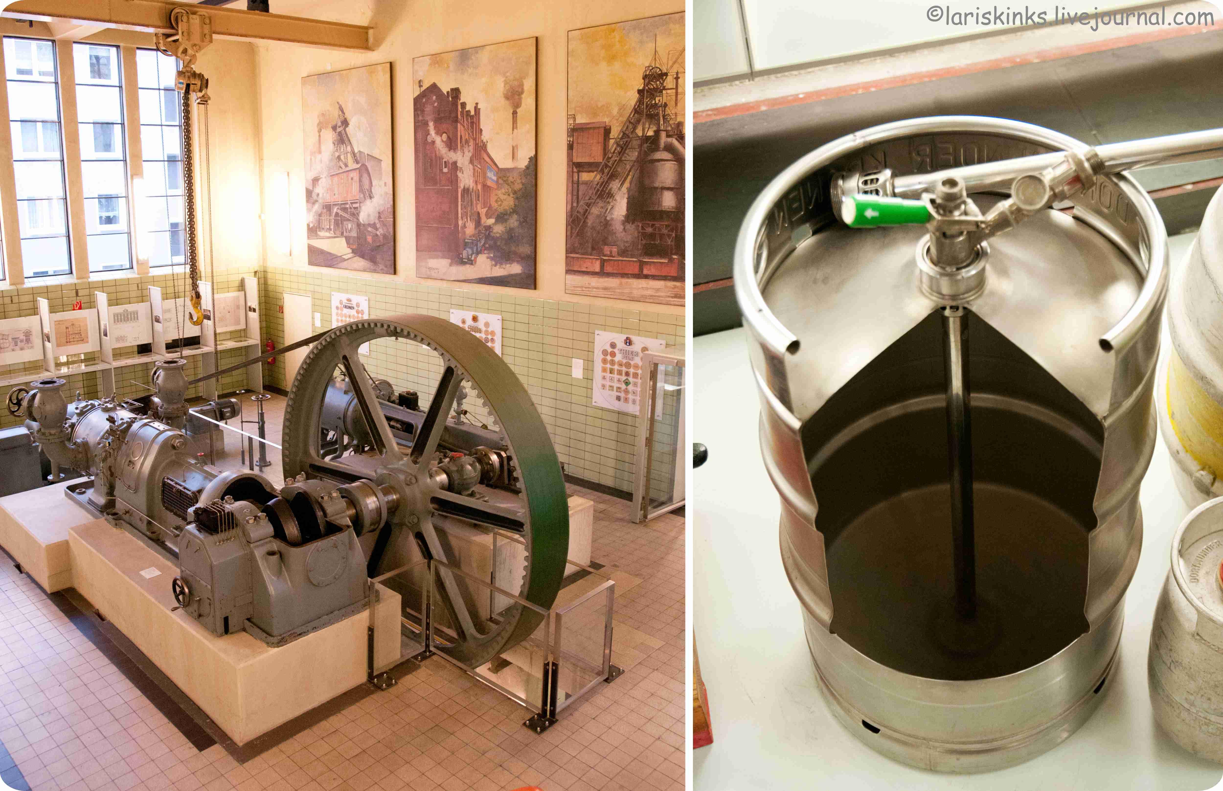 Элементы производства пива в Музее Пива (Дортмунд, Германия) 02