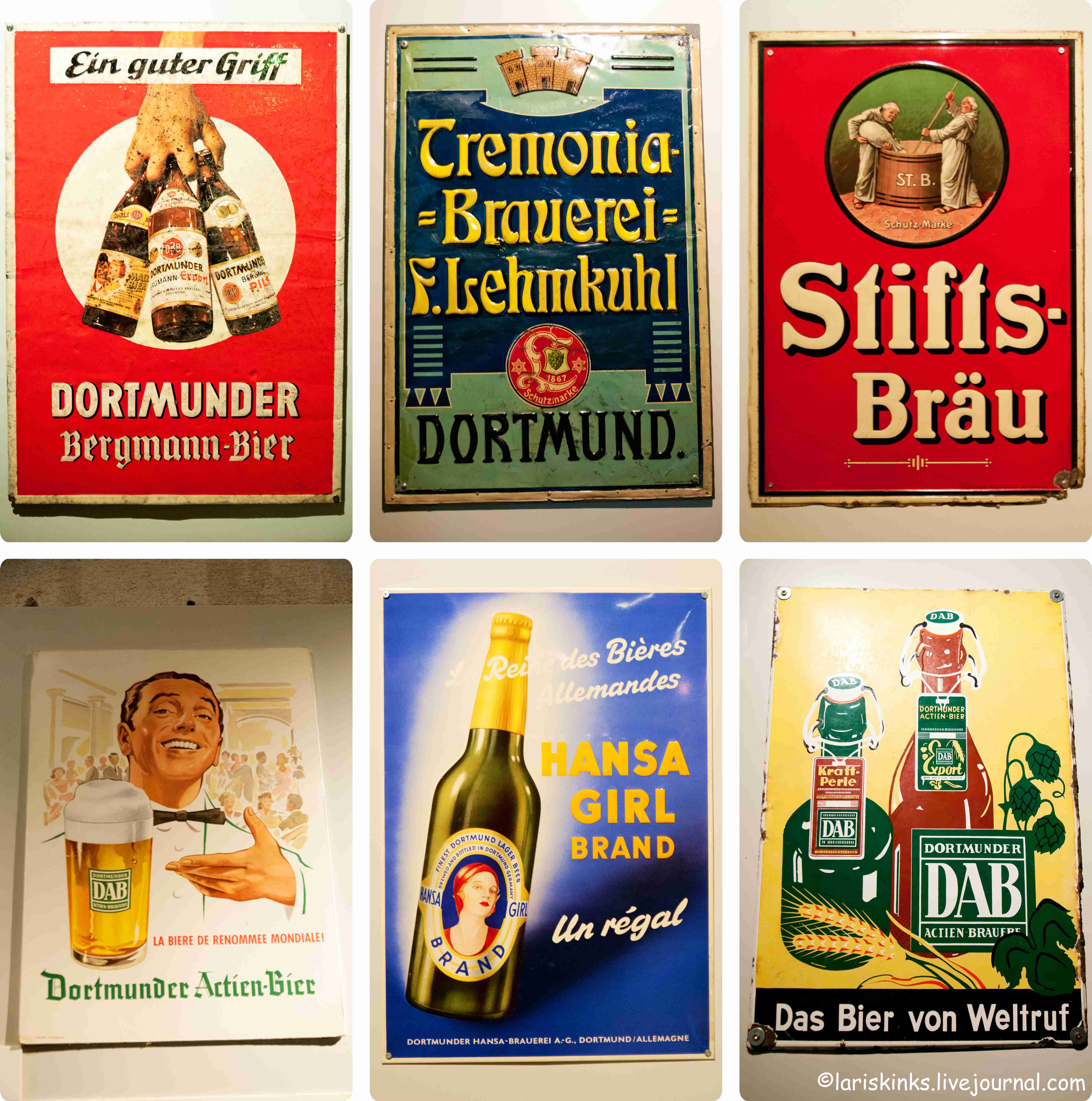 Таблички в Музее Пива (Дортмунд, Германия) 02