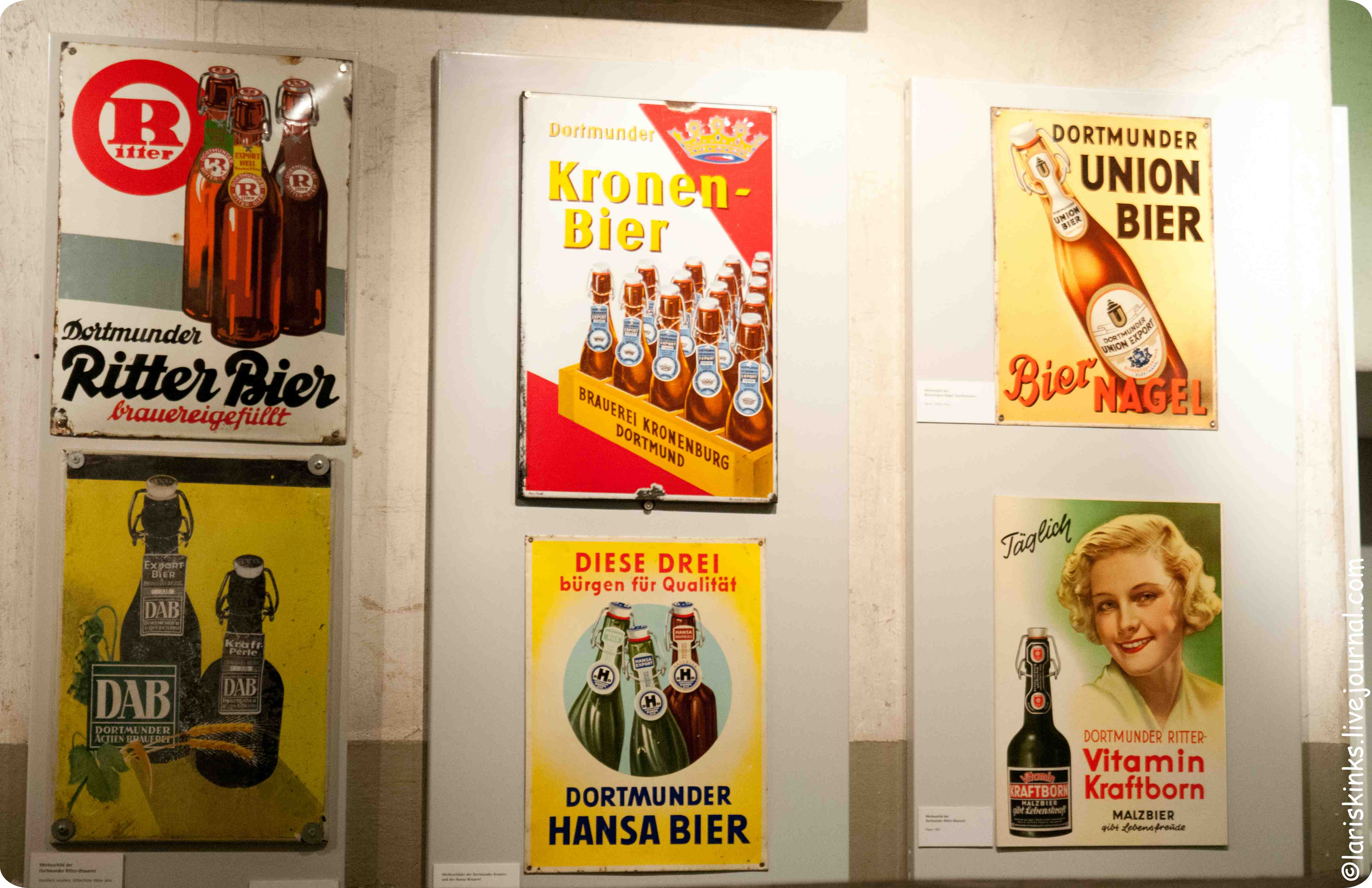 Таблички в Музее Пива (Дортмунд, Германия) 03