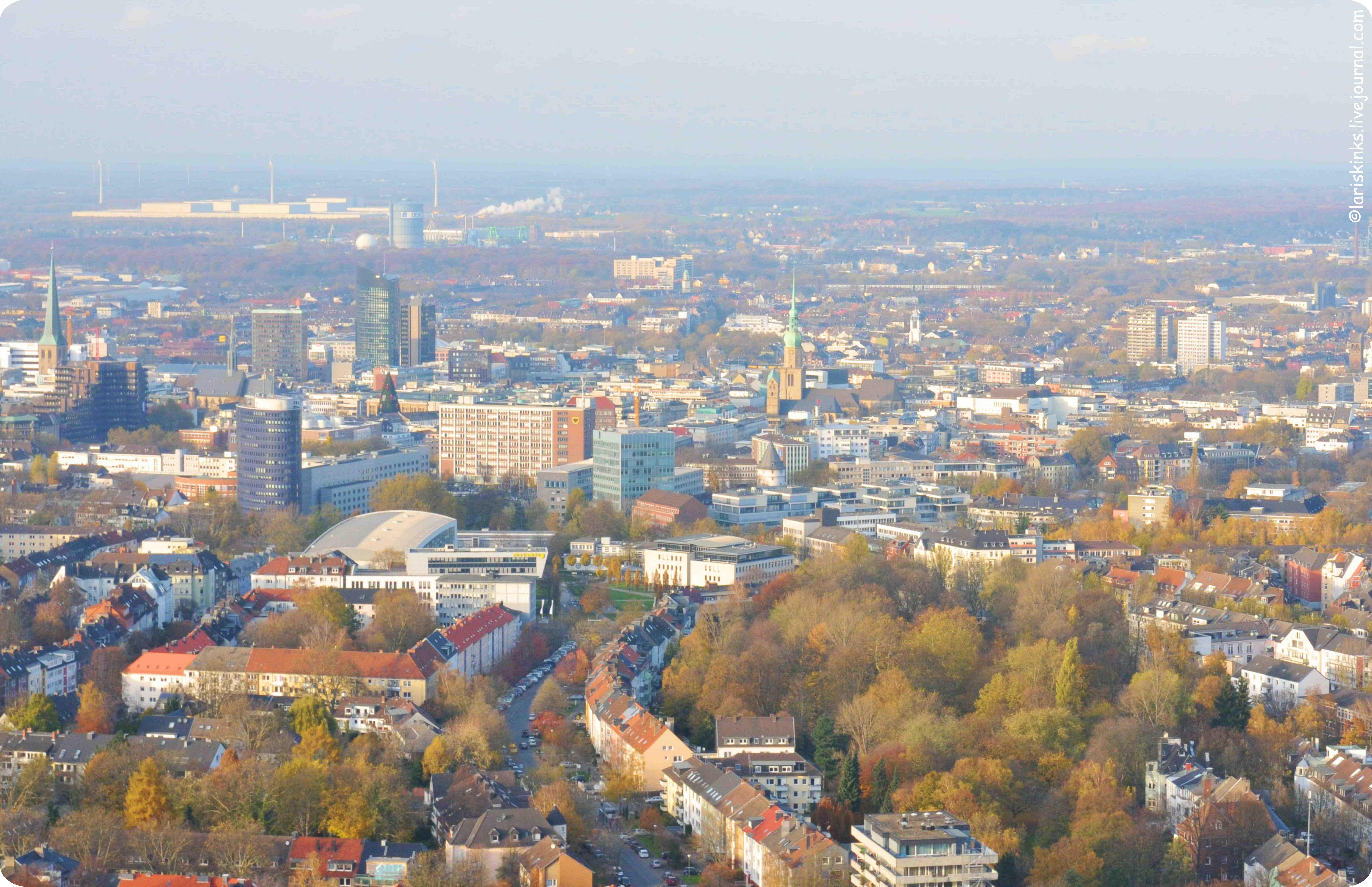вид на Дортмунд с Florianturm
