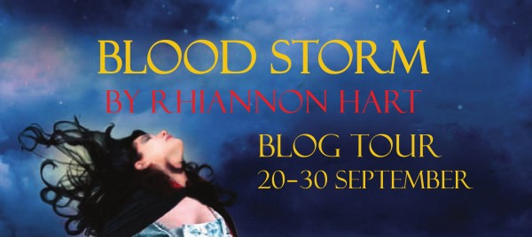 Blood Storm blog tour graphic