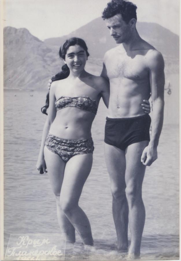 1966 год Лариса Миллер и Борис Альтшулер, Коктебель