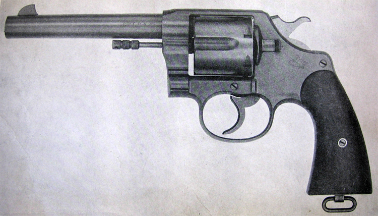 Side view of the revolver
